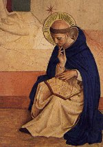 Saint Dominic contemplating the Scriptures